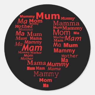 no one mom , mam , mum sticker