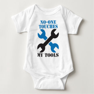 No-ONE Touches my TOOLS! man male design Tees