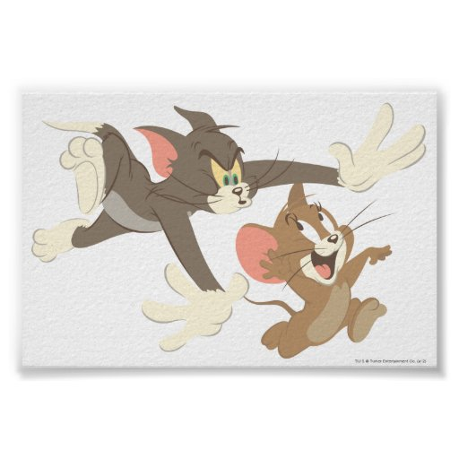 No-Outline Tom And Jerry Chase Poster