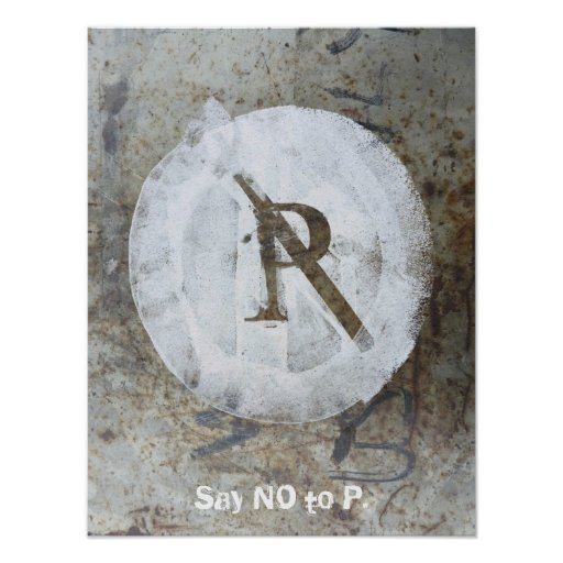 No P Poster Template