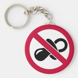 No pacifier soother key chain