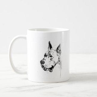 no pain, no dane coffee mug