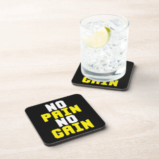 No Pain, No Gain - Gym Workout Motivational Drink Coasters