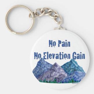 No Pain No Gain HIking Key Chain