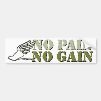 No Pain No Gain - Running Bumper Sticker