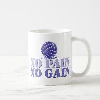 No Pain No Gain Volleyball Basic White Mug