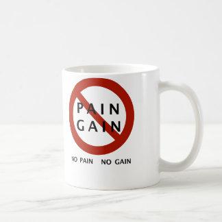 No Pain No Gain w/ Caption Basic White Mug