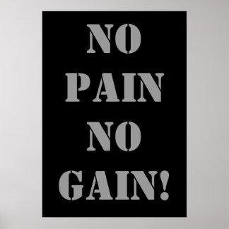 NO PAIN NO GAIN! Weightlifting Poster
