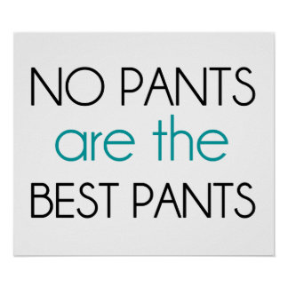 No Pants Are The Best Pants Print