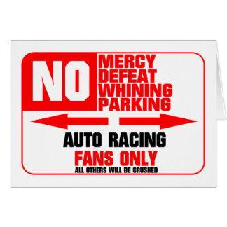 No Parking Auto Racing Sign Greeting Card
