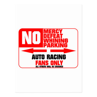 No Parking Auto Racing Sign Postcard