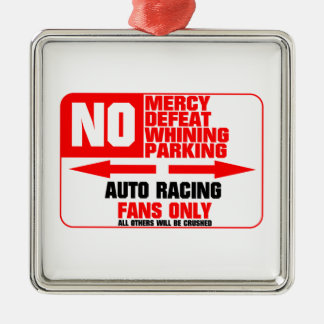 No Parking Auto Racing Sign Silver-Colored Square Decoration