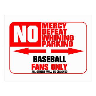 No Parking Baseball Sign Postcard