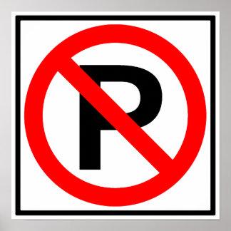 No Parking Highway Sign Print