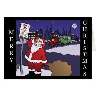 No Parking Santa Card
