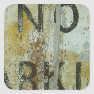 No Parking Square Sticker