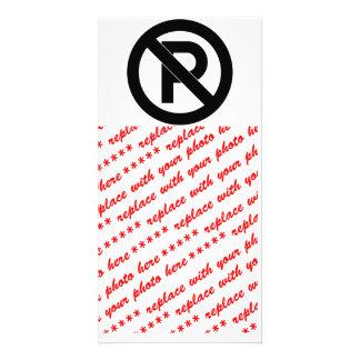 No Parking Symbol Customised Photo Card