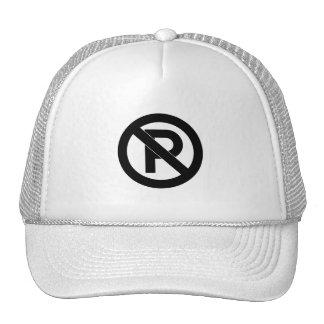 No Parking Symbol Hats