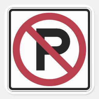 No Parking symbol sign Square Sticker
