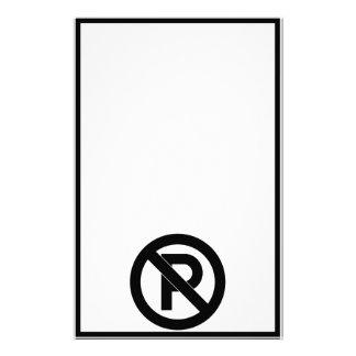 No Parking Symbol Stationery