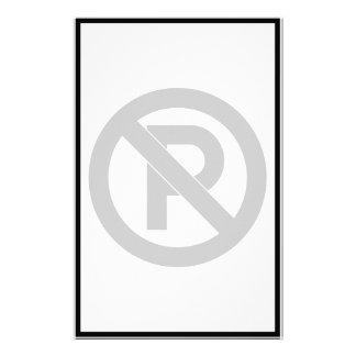 No Parking Symbol Stationery Design