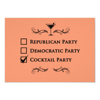 No party like a cocktail party! card