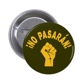 No Pasaran - They Shall Not Pass 6 Cm Round Badge
