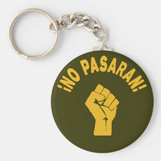 No Pasaran - They Shall Not Pass Basic Round Button Key Ring