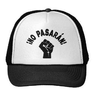 No Pasaran - They Shall Not Pass Cap