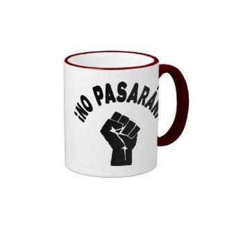 No Pasaran - They Shall Not Pass Ringer Mug