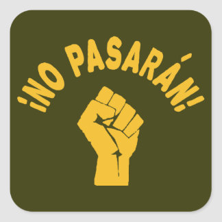 No Pasaran - They Shall Not Pass Square Sticker