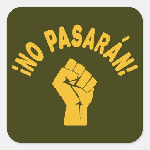 No Pasaran - They Shall Not Pass Sticker