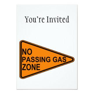 No Passing Gas Road Sign 13 Cm X 18 Cm Invitation Card