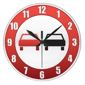 No passing sign clock