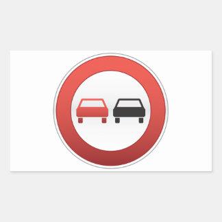 No passing sign rectangular stickers