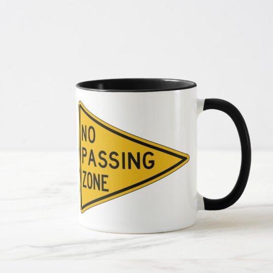 No Passing Zone, Traffic Warning Sign, USA Mug