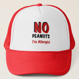NO Peanuts I'm Allergic Trucker Hat