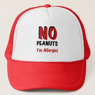 NO Peanuts I'm Allergic Trucker Hat