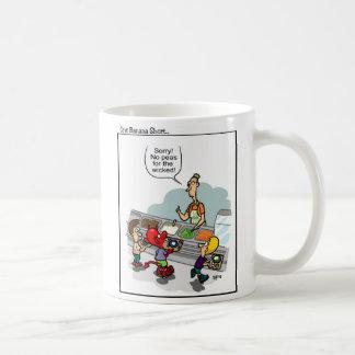 No Peas for the Wicked Coffee Mug