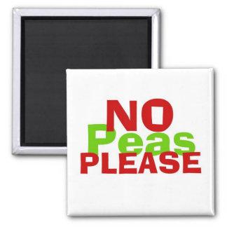 No Peas Please Refrigerator Magnet
