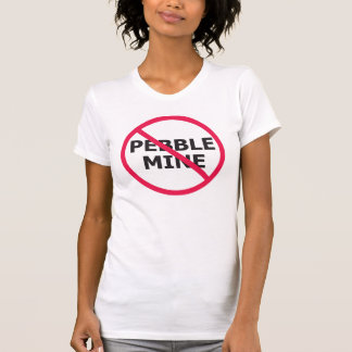 No Pebble Mine Baby Doll T-Shirt