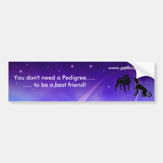 No Pedigree Bumper Sticker