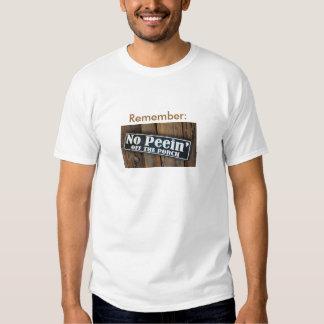 No Peein Off Porch* Shirt