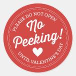 No Peeking! Valentine's Day Stickers