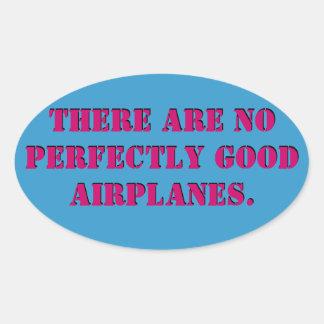 No Perfect Airplanes Sticker