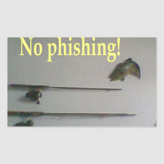 No phishing rectangle stickers