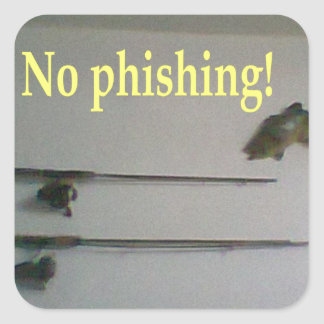 No phishing square stickers