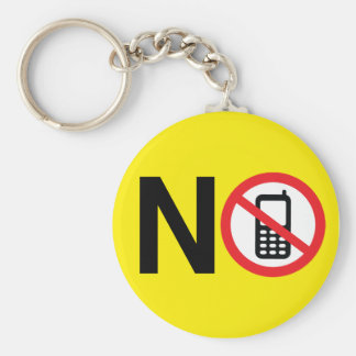 No Phone Zone Keychain