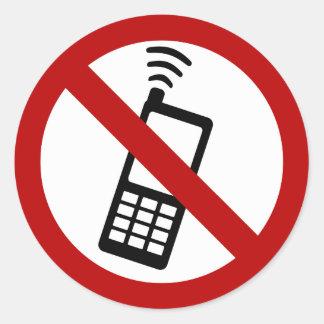 NO PHONE ZONE Sign - sticker