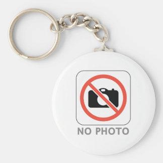 No Photo Basic Round Button Key Ring